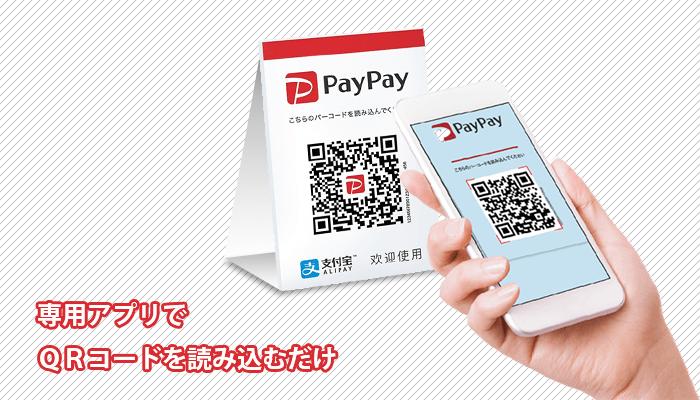 paypayの支払方法イメージ画像